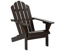 VidaXL Fotel ogrodowy, drewniany, brązowy