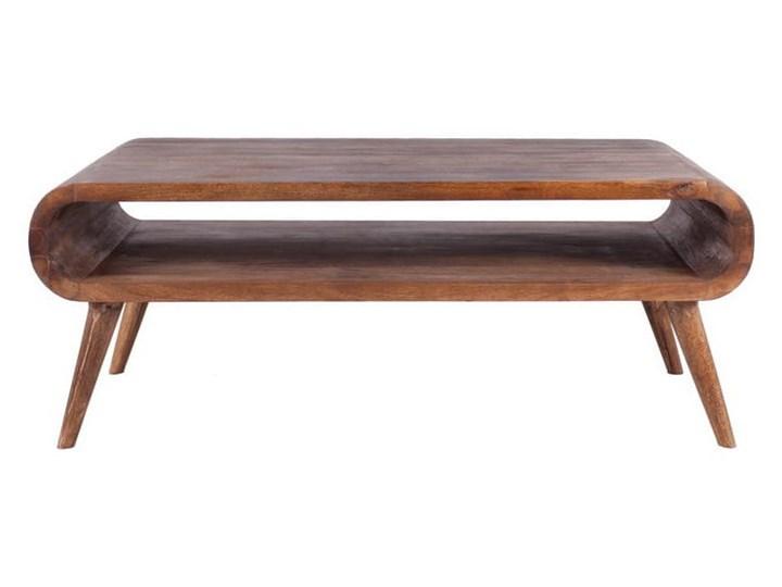 Stolik GUBBE - 80x60 cm (Karmel) Zestaw stolików Rozmiar blatu 60x80 cm Drewno Styl Vintage