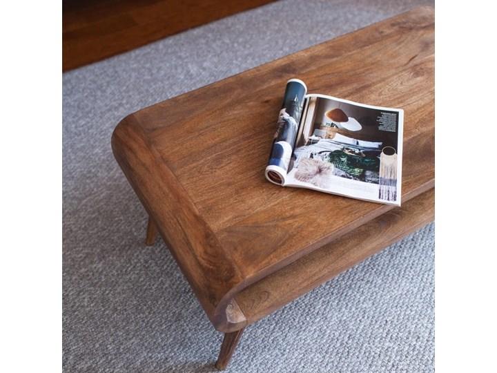 Stolik GUBBE - 80x60 cm (Karmel) Drewno Zestaw stolików Kategoria Stoliki i ławy