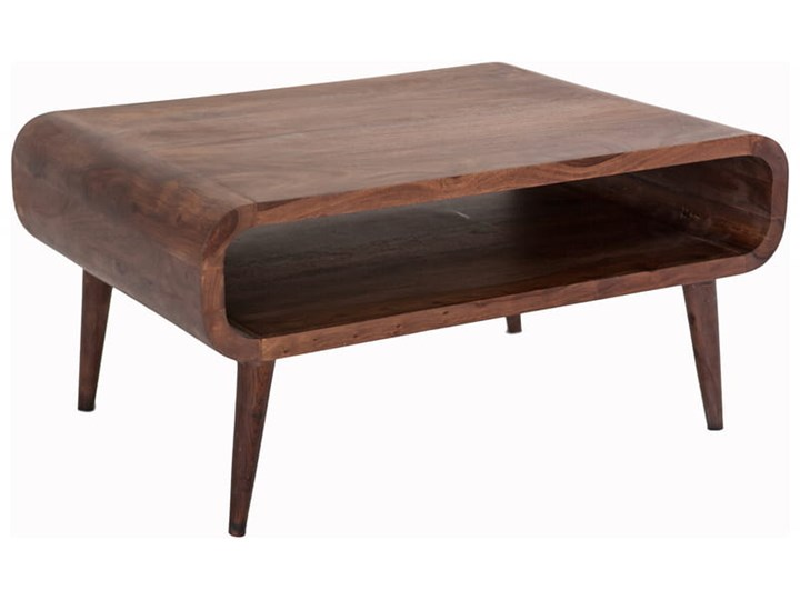 Stolik GUBBE - 80x60 cm (Karmel) Drewno Zestaw stolików Styl Vintage