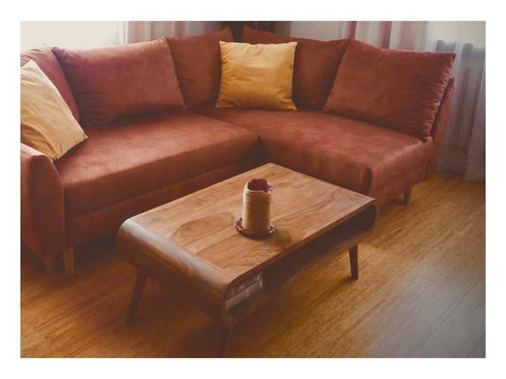 Stolik GUBBE - 80x60 cm (Karmel) Zestaw stolików Drewno Kategoria Stoliki i ławy Rozmiar blatu 60x80 cm