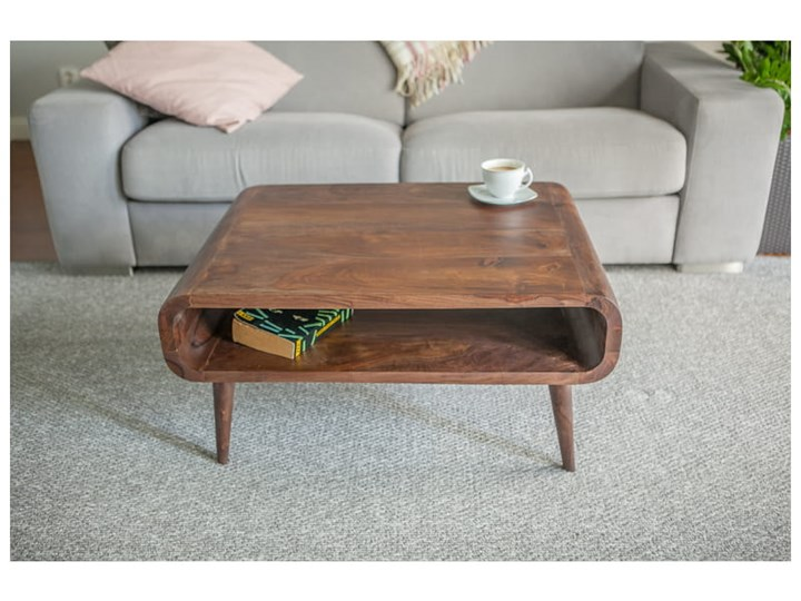 Stolik GUBBE - 80x60 cm (Karmel) Zestaw stolików Drewno Rozmiar blatu 60x80 cm