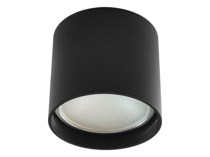 Oprawa natynkowa okrągła GU10 ES AR111 stała czarna aluminiowa do domu Oprawa stropowa Kolor Czarny Oprawa halogenowa Okrągłe Kategoria Oprawy oświetleniowe