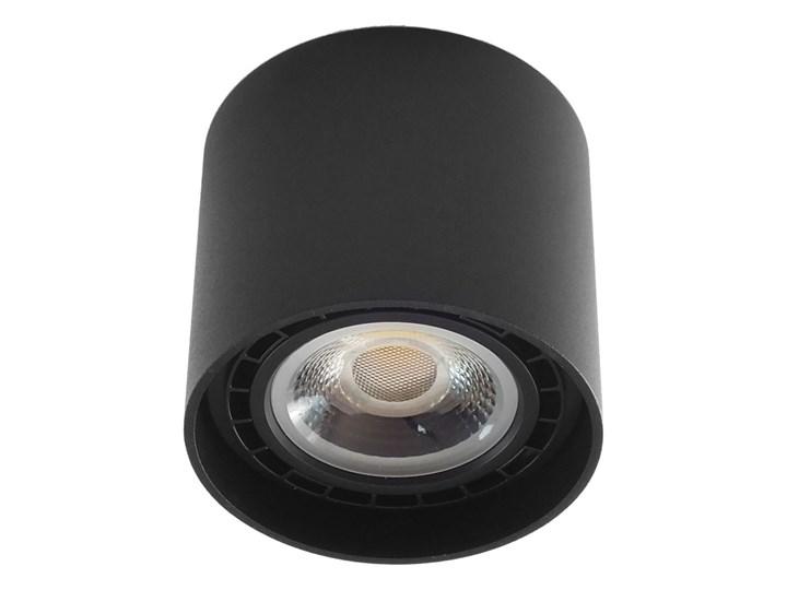 Oprawa natynkowa okrągła GU10 ES AR111 stała czarna aluminiowa do domu Oprawa halogenowa Oprawa stropowa Okrągłe Kolor Czarny