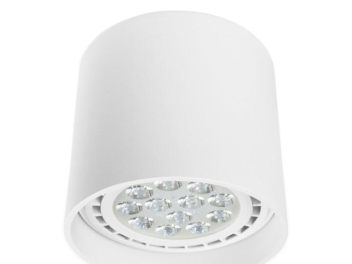 Oprawa natynkowa okrągła GU10 ES AR111 stała biała aluminiowa do domu Oprawa stropowa Oprawa halogenowa Okrągłe Kolor Biały