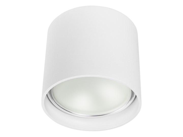Oprawa natynkowa okrągła GU10 ES AR111 stała biała aluminiowa do domu Okrągłe Oprawa stropowa Oprawa halogenowa Kolor Biały