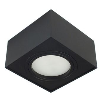 Nowoczesna oprawa sufitowa GX53 kwadrat ruchoma czarna czarny mat aluminiowa
