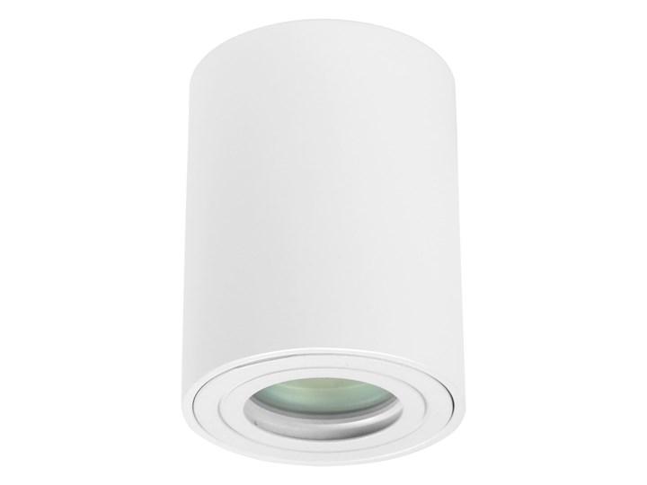 Sufitowa oprawa natynkowa IP65, okrągła, tuba, biały mat aluminiowa Oprawa halogenowa Oprawa led Oprawa stropowa Okrągłe Kategoria Oprawy oświetleniowe