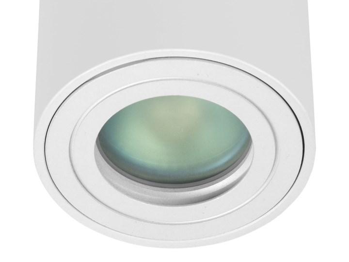 Sufitowa oprawa natynkowa IP65, okrągła, tuba, biały mat aluminiowa Oprawa halogenowa Oprawa stropowa Okrągłe Oprawa led Kategoria Oprawy oświetleniowe