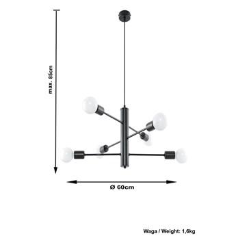 Loftowy żyrandol z regulacją E759-Duomi