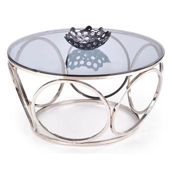 Okrągły stolik kawowy ze szklanym blatem w stylu glamour Venus
