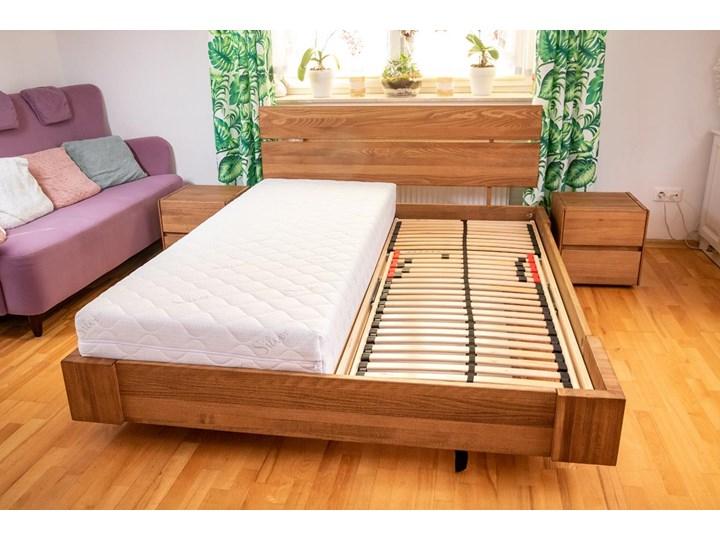 Zestaw: Beriet łóżko+2 szafki nocne z drewna bukowego lewitujące 140x200 cm Kategoria Zestawy mebli do sypialni Kolor Brązowy