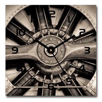 Zegar szklany kwadratowy Silnik samolotu
