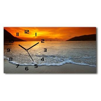 Zegar ścienny szklany Zachód słońca morze