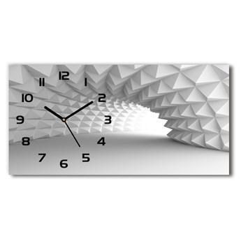 Zegar ścienny szklany Abstrakcja tunel