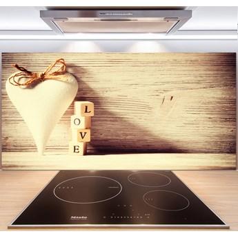 Panel szklany do kuchni Miłość