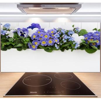 Panel do kuchni Niebieskie kwiaty