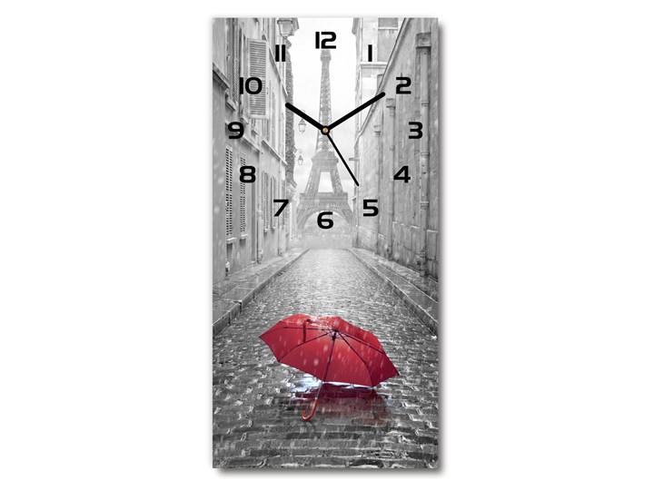 Zegar ścienny cichy Parasol Francja Budzik Prostokątny Zegar stołowy Szkło Styl Nowoczesny