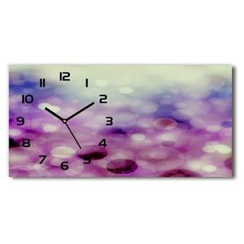 Zegar ścienny szklany cichy Fioletowe koła