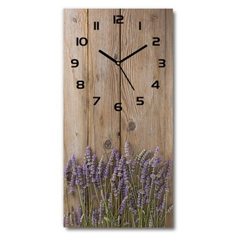 Zegar ścienny Lawenda na drewnie
