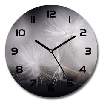 Zegar szklany okrągły Nasiona dmuchawca