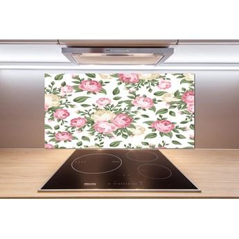 Panel szklany do kuchni Róże