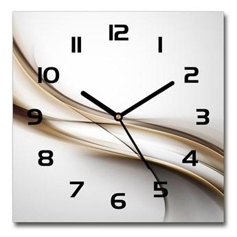 Zegar szklany na ścianę Brązowa fala
