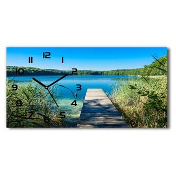 Zegar ścienny szklany Molo nad jeziorem