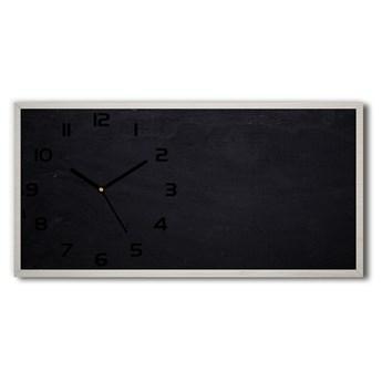 Zegar ścienny szklany cichy Czarna tablica