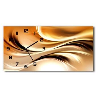Zegar ścienny szklany Abstrakcyjne fale