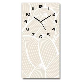 Zegar szklany ścienny Płatki kwiatów