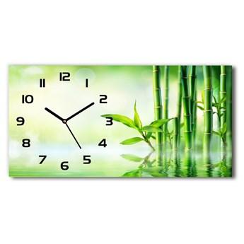 Nowoczesny zegar ścienny szklany Bambus