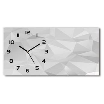 Zegar ścienny szklany Abstrakcja trójkąty