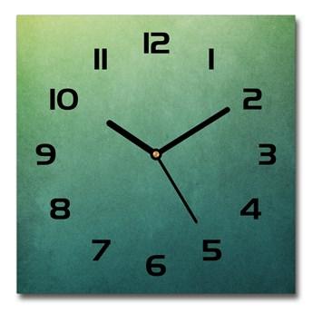 Zegar szklany kwadratowy Morski gradient