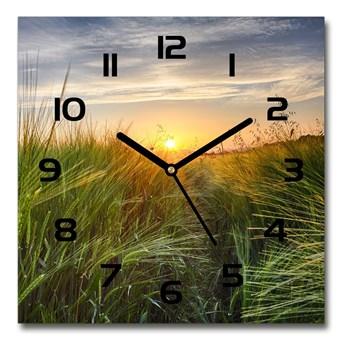 Zegar szklany kwadratowy Pole pszenicy