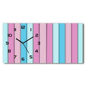 Zegar ścienny szklany cichy Kolorowe paski