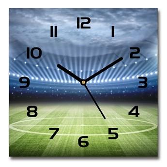 Zegar ścienny szklany kwadratowy Stadion