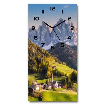 Zegar ścienny Miasteczko w górach
