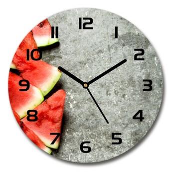 Zegar szklany okrągły Pokrojony arbuz