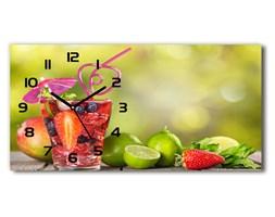 Zegar ścienny szklany Owocowy koktajl