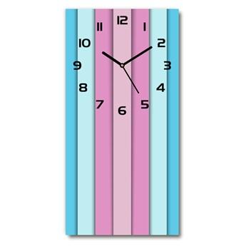 Zegar szklany ścienny Kolorowe paski