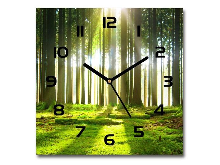 Zegar szklany kwadratowy Las w słońcu Kategoria Zegary Zegar ścienny Szkło Styl Nowoczesny
