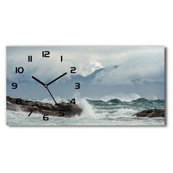 Zegar ścienny szklany Wzburzone morze