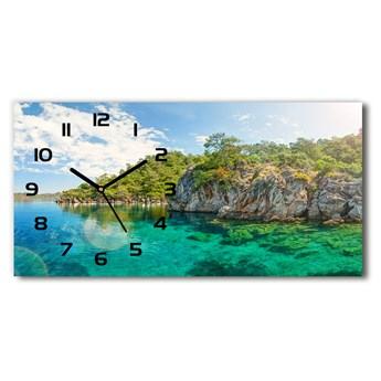 Zegar ścienny szklany Błękitna laguna
