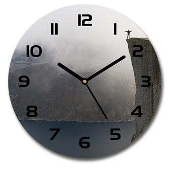 Zegar szklany okrągły Norweski klif