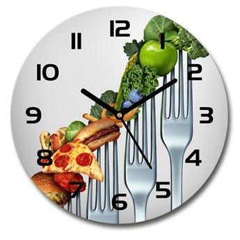 Zegar szklany okrągły Postępy w diecie