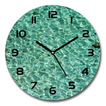 Zegar szklany na ścianę Przejrzysta woda