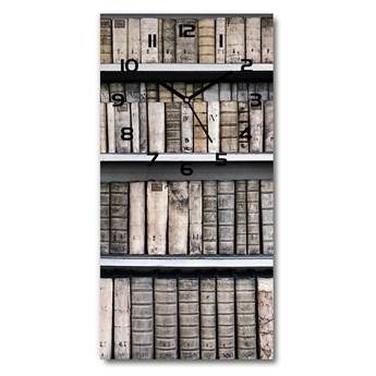 Zegar ścienny cichy Półka na książki