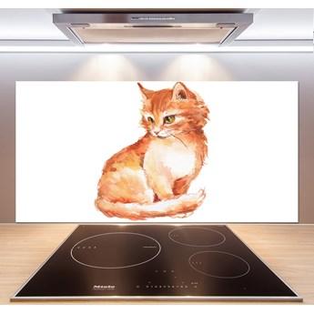 Panel między meble w kuchni Rudy kot