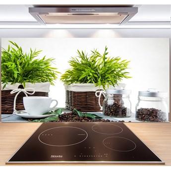 Panel do kuchni Motyw domu z kawą